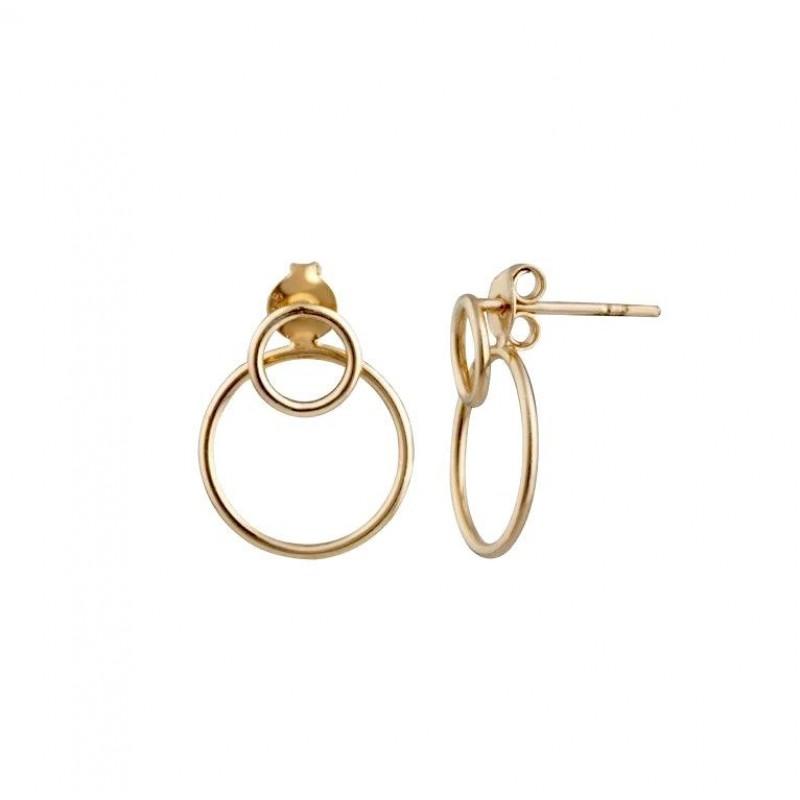 Elegantni uhani z dvojnim krogom