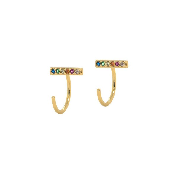 Majhni elegantni uhani z barvnimi cirkoniji