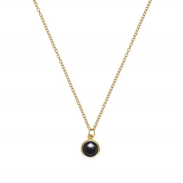 Ogrlica s črnim kristalom