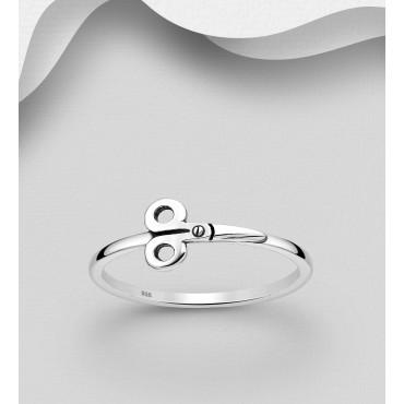 Srebrni prstan - škarje