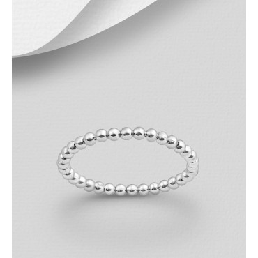 Srebrni prstan - kroglice