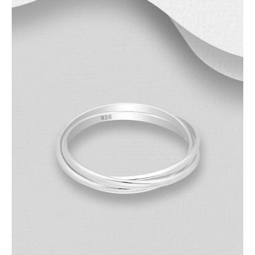 Srebrni prstan - trije obroči