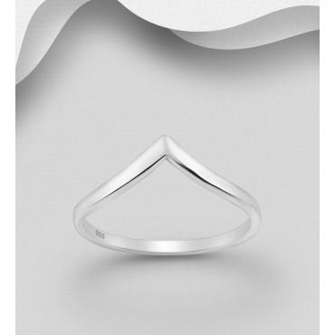 """Srebrni prstan - oblika """"V"""""""