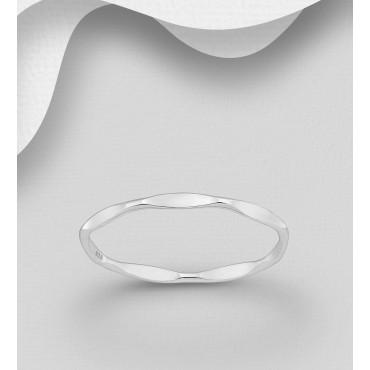 Srebrni prstan širine 2 mm